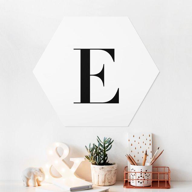 Hexagon Bild Forex - Buchstabe Serif Weiß E