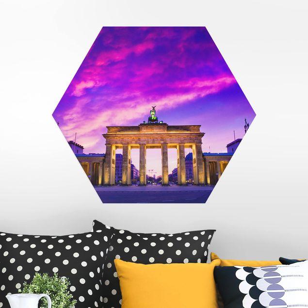 Hexagon Bild Alu-Dibond - Das ist Berlin!