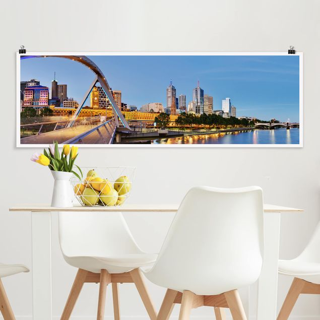 Poster - View Across The Yarra River - Panorama Querformat