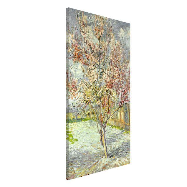 Magnettafel - Vincent van Gogh - Blühende Pfirsichbäume - Memoboard Hochformat 4:3