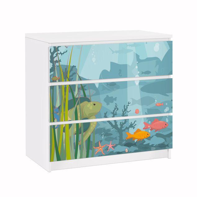 Möbelfolie für IKEA Malm Kommode - Klebefolie No.EK57 Meereslandschaft