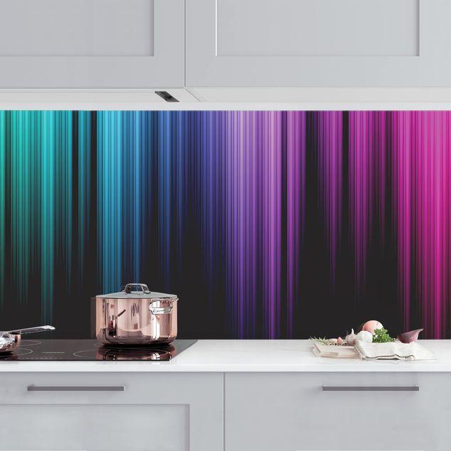 Küchenrückwand - Rainbow Display II