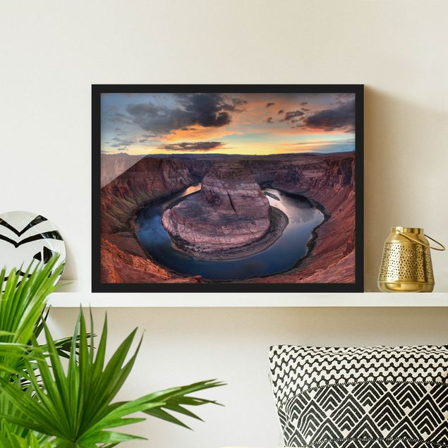 Bild mit Rahmen - Colorado River Glen Canyon - Querformat 3:4