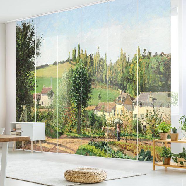 Schiebegardinen Set - Camille Pissarro - Kleines Dorf nahe Pontoise - Flächenvorhänge