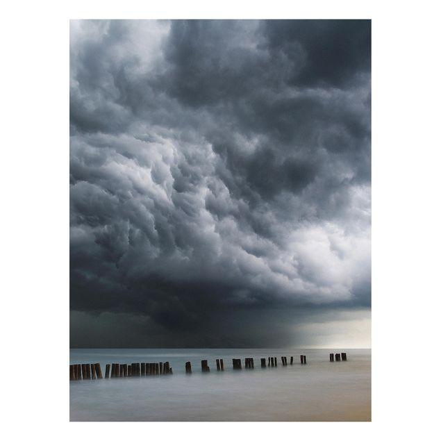 Forex Fine Art Print - Sturmwolken über der Ostsee - Hochformat 4:3