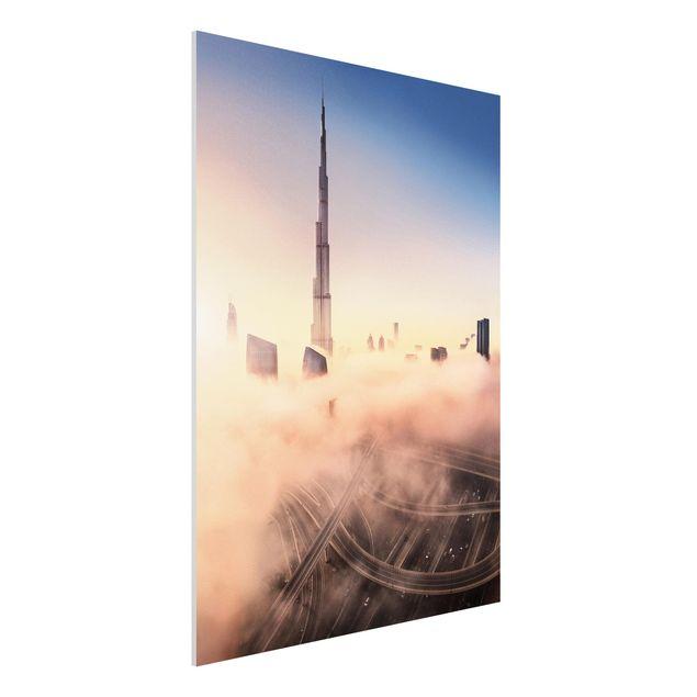 Forex Fine Art Print - Himmlische Skyline von Dubai - Hochformat 4:3