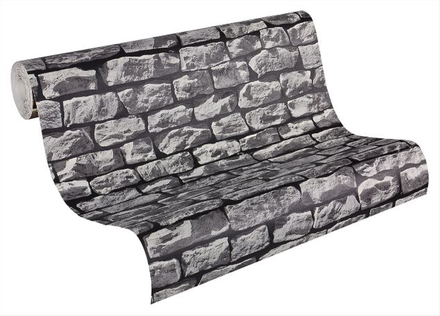A.S. Création Mustertapete Best of Wood`n Stone 2nd Edition in Grau, Schwarz