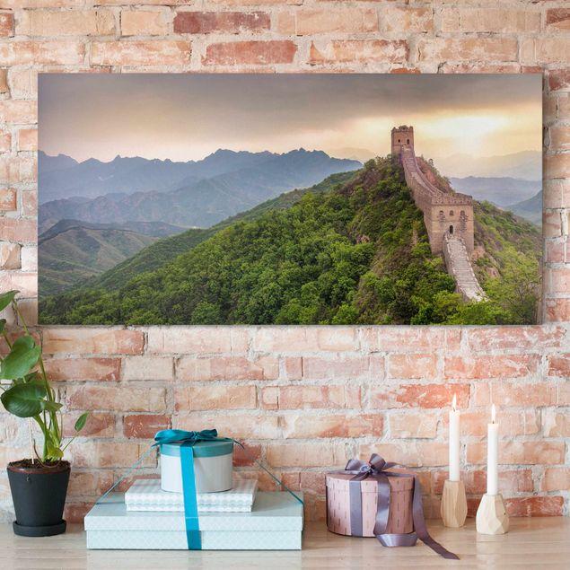Leinwandbild - Die unendliche Mauer von China - Querformat 2:1