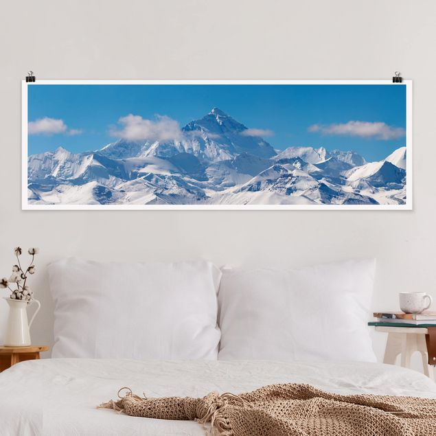 Poster - Mount Everest - Panorama Querformat