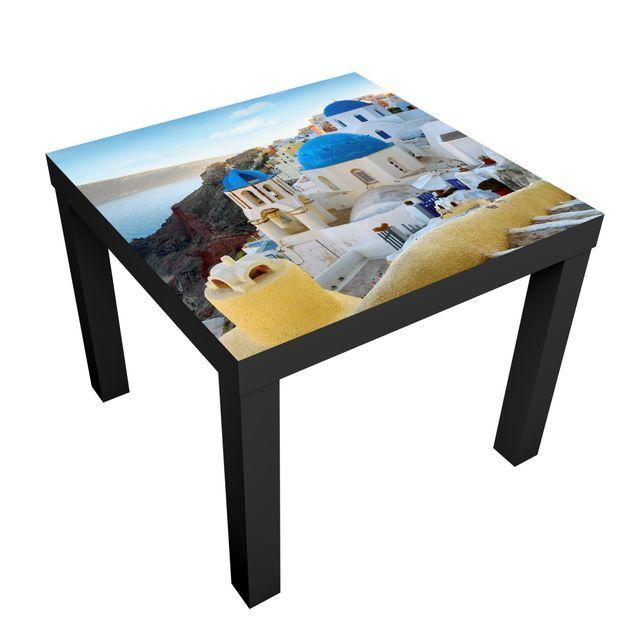 Möbelfolie für IKEA Lack - Klebefolie View Over Santorini