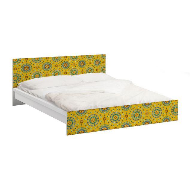 Möbelfolie für IKEA Malm Bett niedrig 140x200cm - Klebefolie Wayuu Design