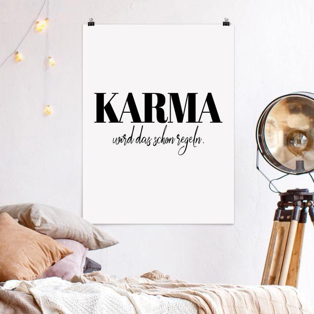 Poster - Karma wird das schon regeln - Hochformat 3:4
