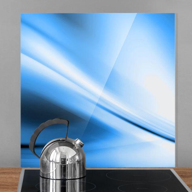 Glas Spritzschutz - Deep Blue Heaven - Quadrat - 1:1