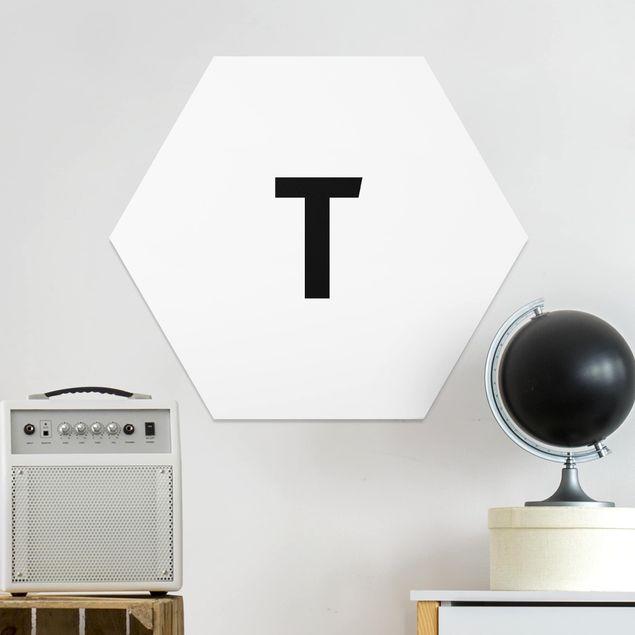 Hexagon Bild Forex - Buchstabe Weiß T