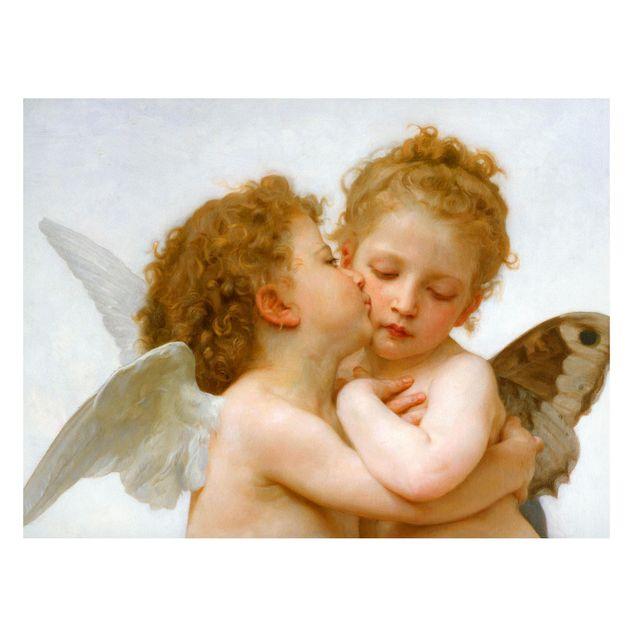 Magnettafel - William Adolphe Bouguereau - Der erste Kuss - Memoboard Querformat 3:4