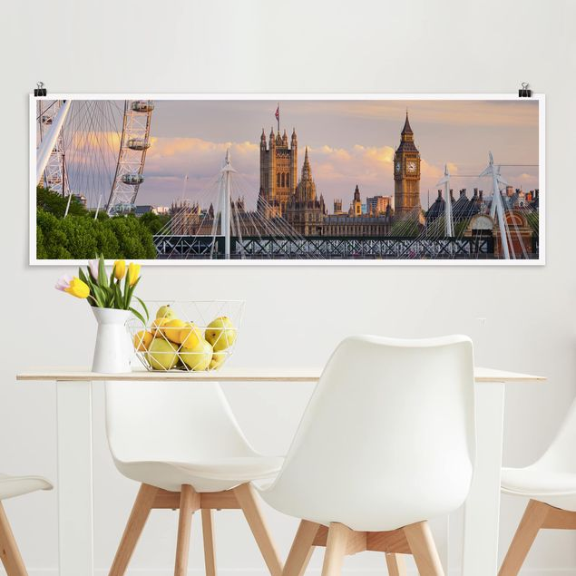 Poster - Westminster Palace London - Panorama Querformat