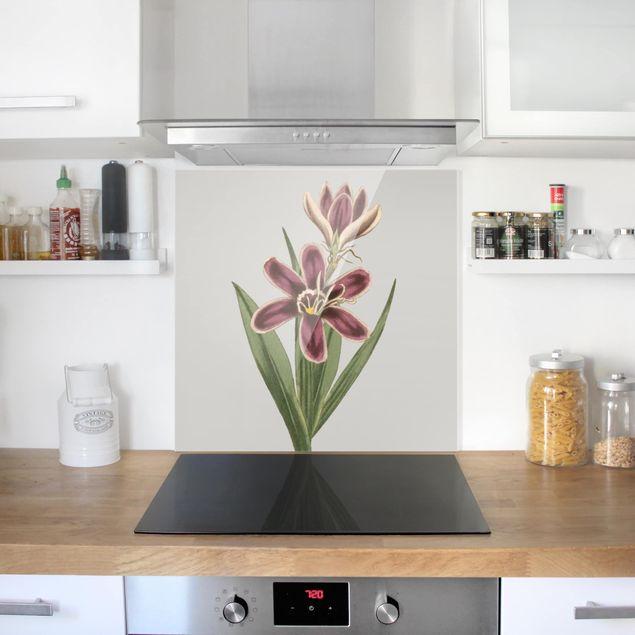 Glas Spritzschutz - Florale Schmuckstücke II - Quadrat - 1:1