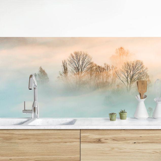Küchenrückwand - Nebel bei Sonnenaufgang