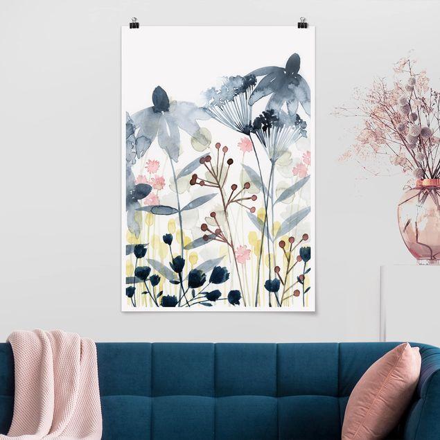 Poster - Wildblumen Aquarell II - Hochformat 3:2