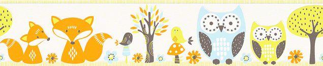 Esprit Mustertapete Esprit Kids 5 Forest in Blau, Orange, Weiß