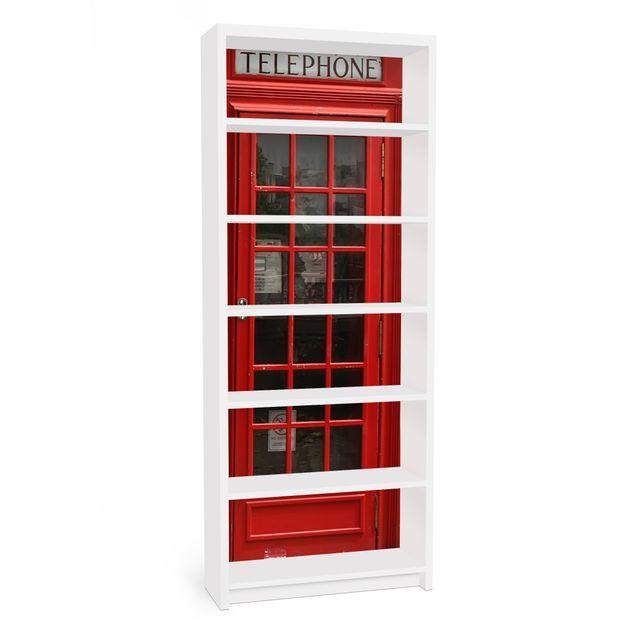 Möbelfolie für IKEA Billy Regal - Klebefolie Telephone