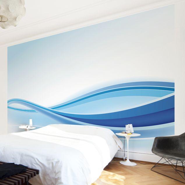 Fototapete Blue Waving Composition