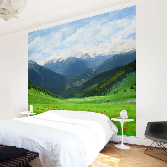 Fototapete Alpenwiese