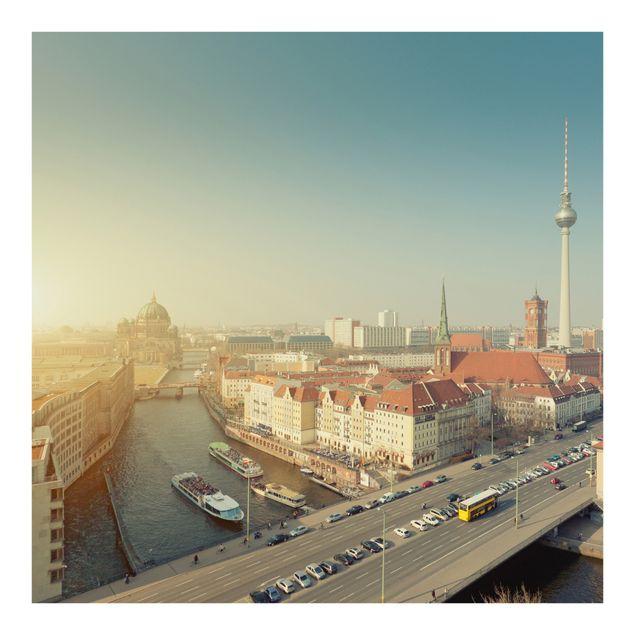 Fototapete Berlin am Morgen
