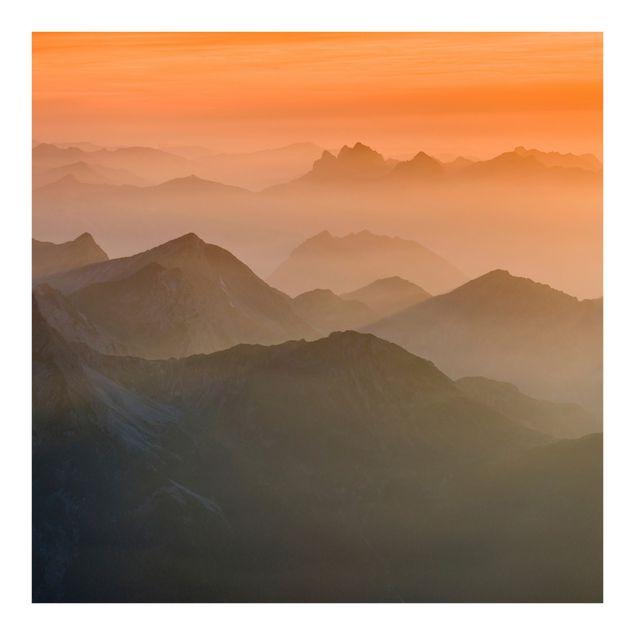 Fototapete Blick von der Zugspitze