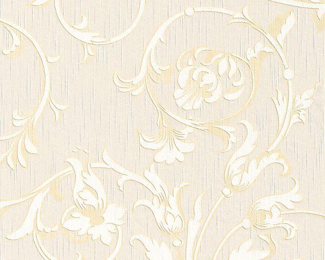 Architects Paper Mustertapete Tessuto in Beige, Creme, Metallic