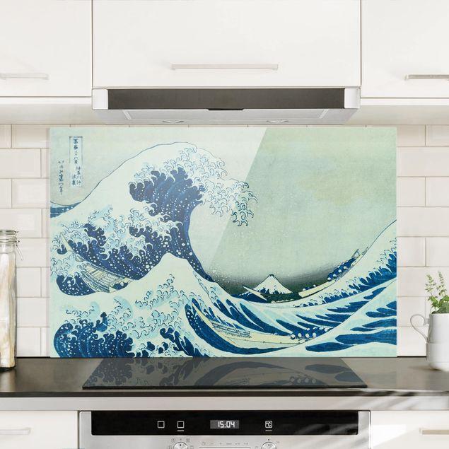 Spritzschutz Glas - Katsushika Hokusai - Die grosse Welle von Kanagawa - Querformat - 3:2