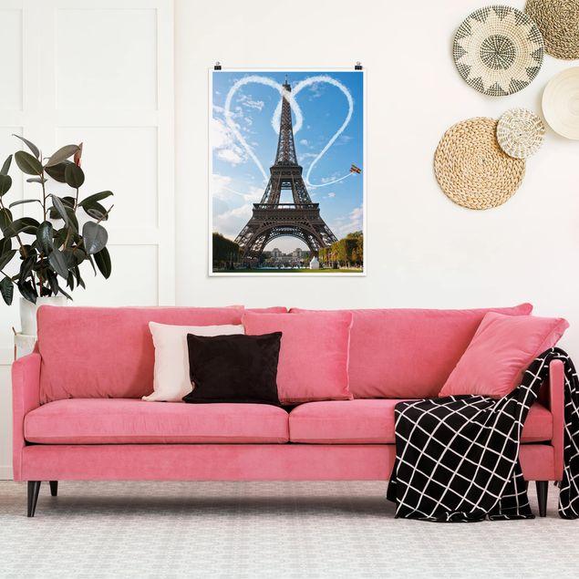 Poster - Paris - City of Love - Hochformat 3:4