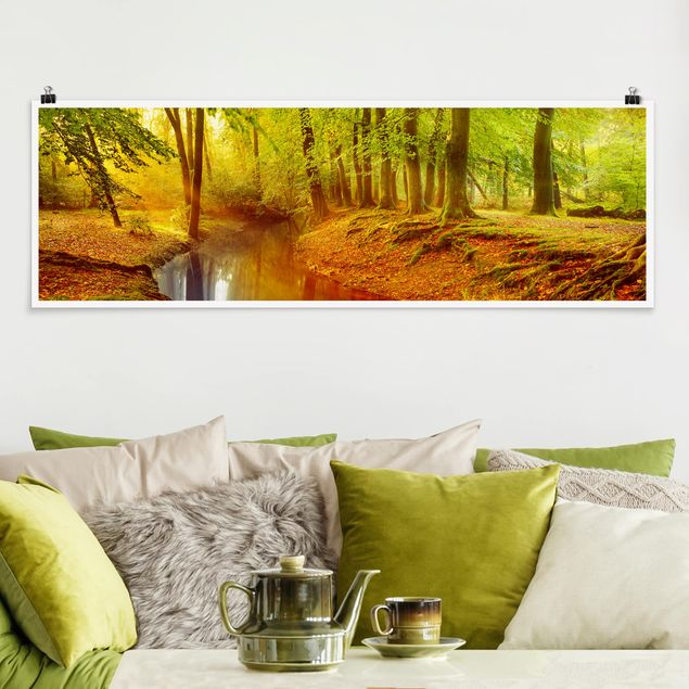Poster - Herbstwald - Panorama Querformat