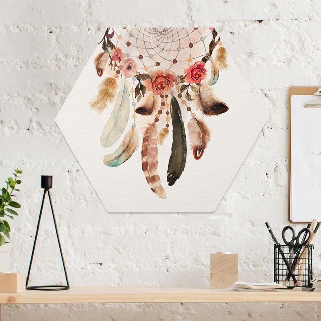Hexagon Bild Forex - Traumfänger mit Perlen