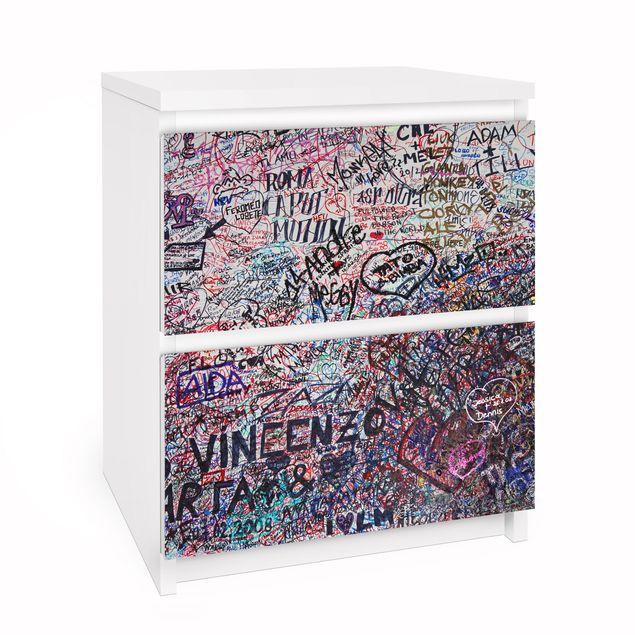 Möbelfolie für IKEA Malm Kommode - Selbstklebefolie Verona - Romeo & Julia