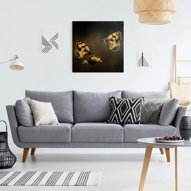Leinwandbild Gold - Medioluto Norte - Quadrat 1:1