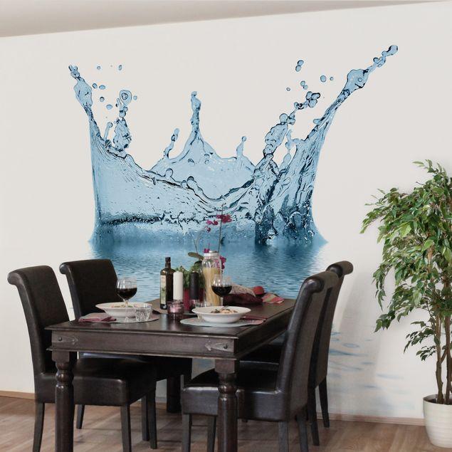 Fototapete Blue Water Splash No.2