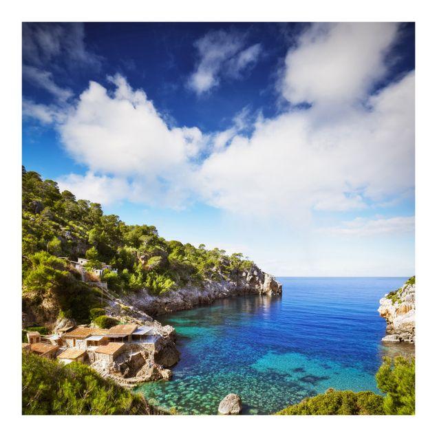 Fototapete Cala de Deia in Mallorca