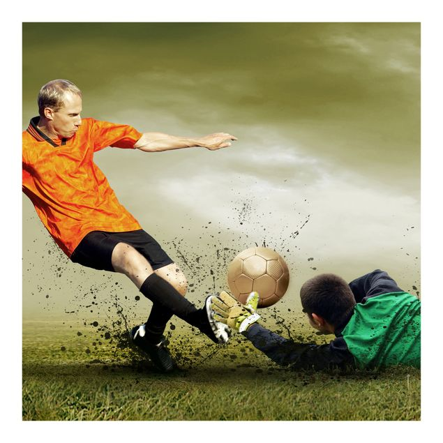 Fototapete Clash of the Football Players