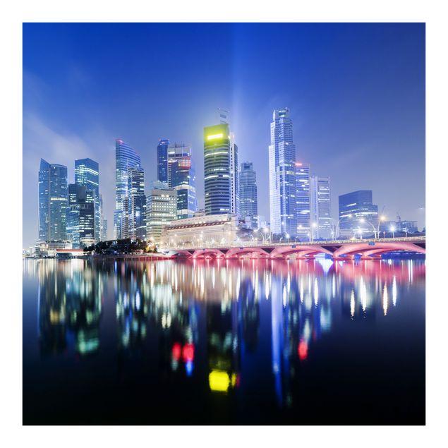 Fototapete Colourful Singapore