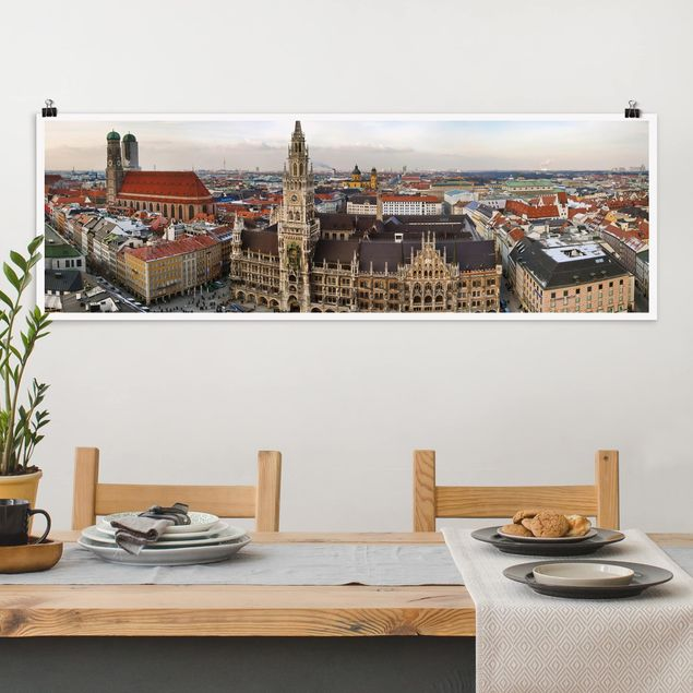 Poster - City of Munich - Panorama Querformat