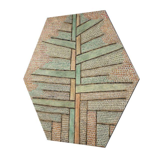 Hexagon Bild Alu-Dibond - Paul Klee - Kiefer