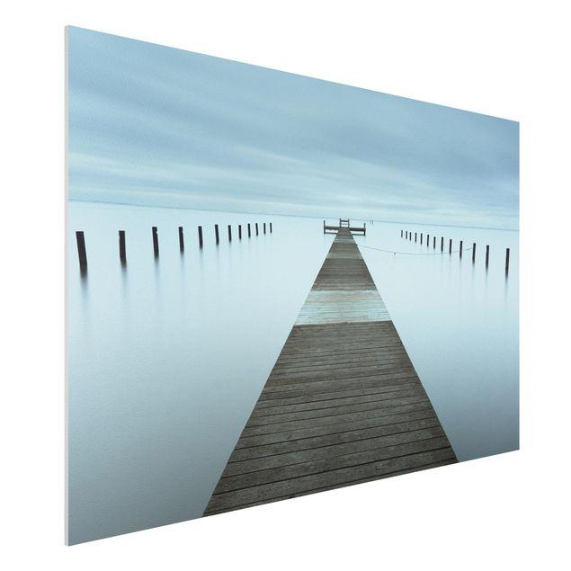Forex Fine Art Print - Pier in Schweden - Querformat 2:3