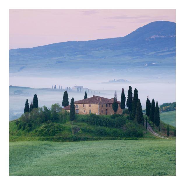 Fototapete Sonnenaufgang in der Toskana