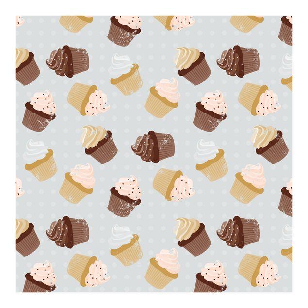 Fototapete Cupcakes Designmuster