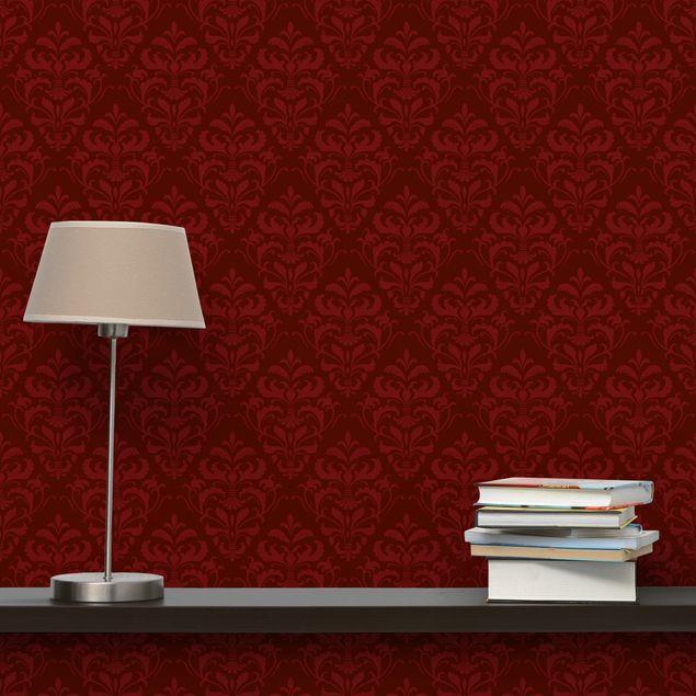 Fototapete Roter Französischer Barock