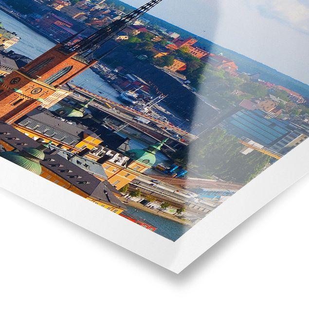 Poster - Stockholm in Schweden - Panorama Querformat
