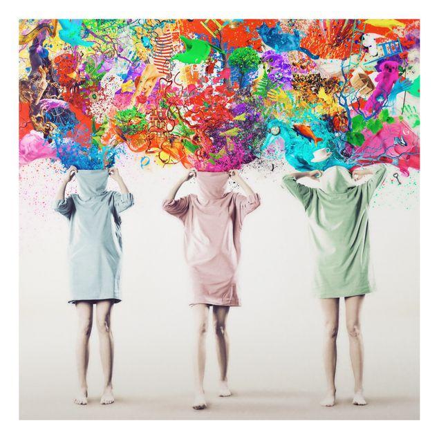 Alu-Dibond Bild - Brain Explosions