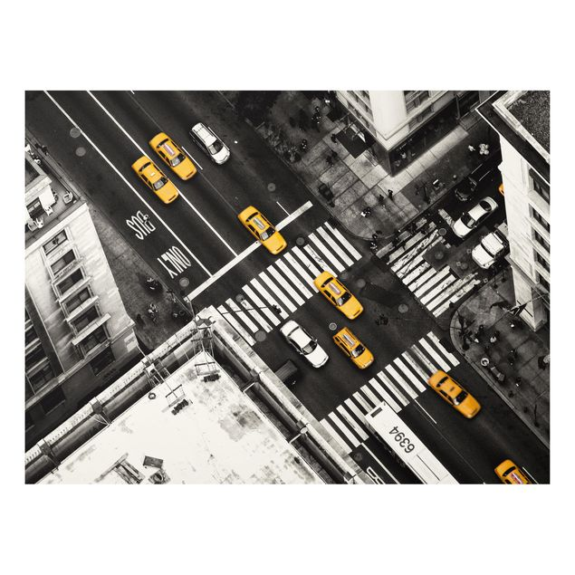 Forex Fine Art Print - New York City Cabs - Querformat 3:4