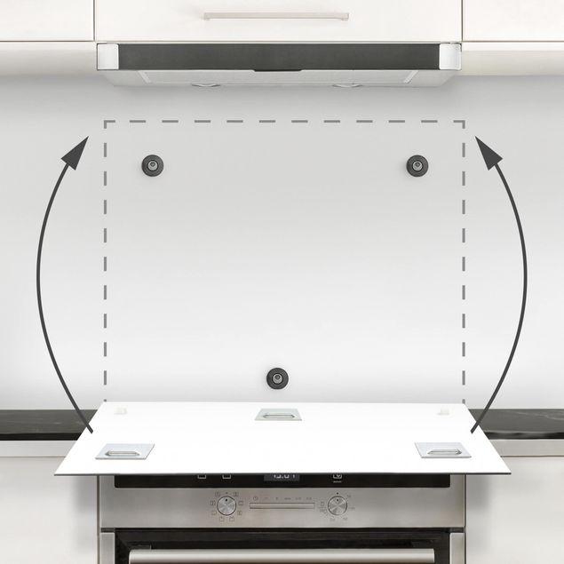 Glas Spritzschutz - Gesteinsschmelze I - Quadrat - 1:1